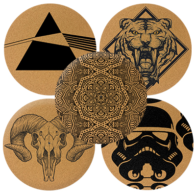 /VINYL Elvis Kork DJ Slipmats//Turntable Slipmats/
