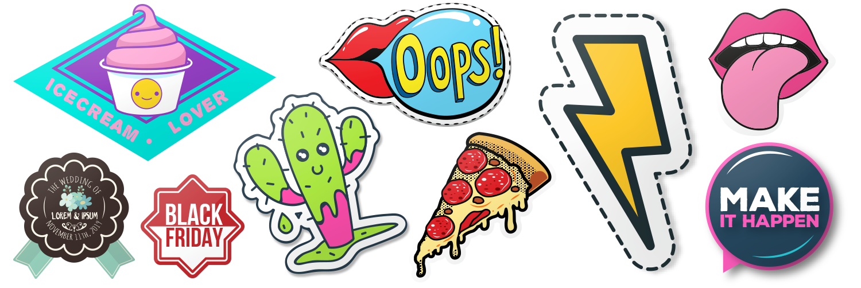 Custom kiss cut stickers