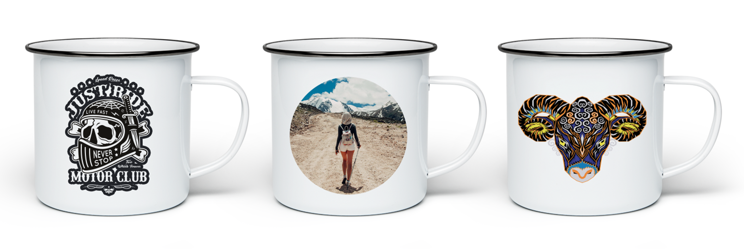 Printed enamel Mugs